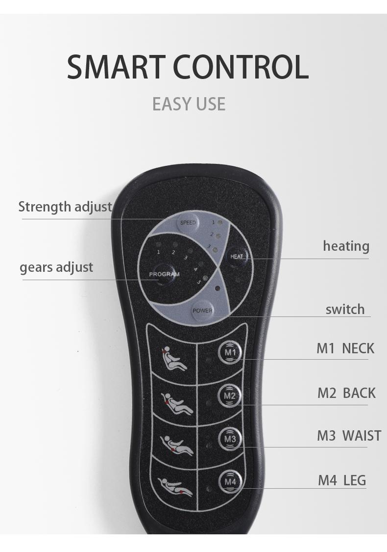 Air Compression And Neck Dual Shiatsu Massage Cushion Pad